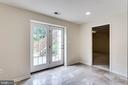 Basement office or work out rm walks out to patio - 3813 NALLS RD, ALEXANDRIA