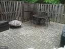 Beautiful patio with fenced backyard - 8401 CEDAR FALLS CT, SPRINGFIELD