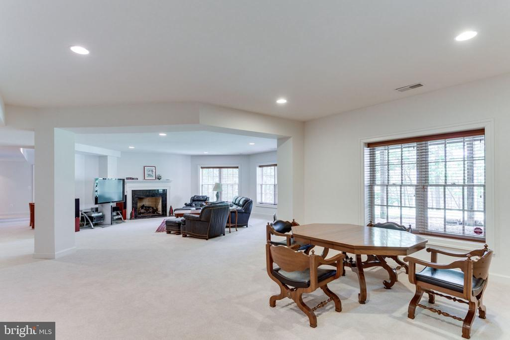Recreation Room fireplace - 3530 SAINT AUGUSTINE LN, OAKTON