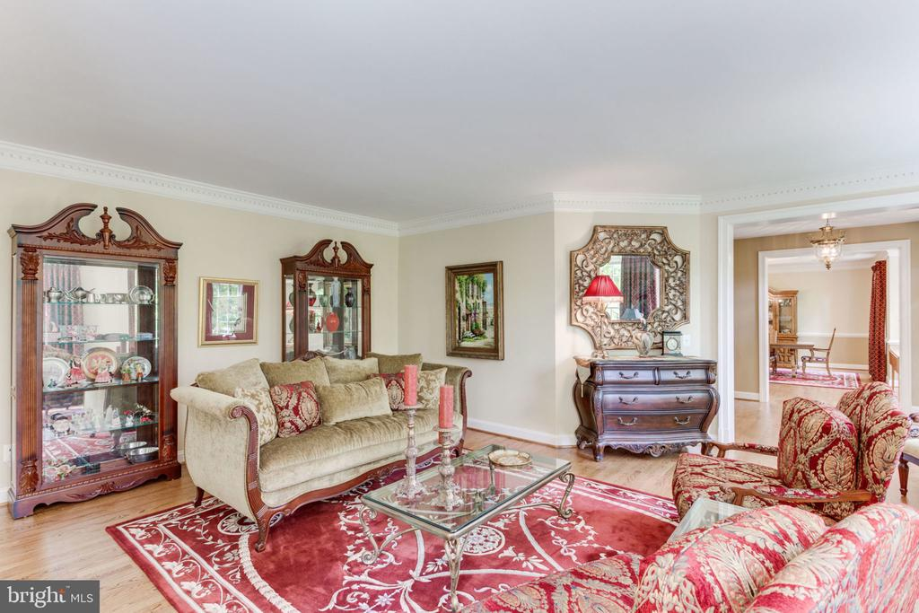 Living Rm with entry in the Conservatory - 3530 SAINT AUGUSTINE LN, OAKTON