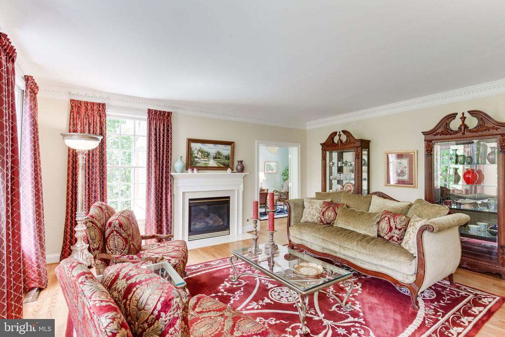 Formal Living Rm with fireplace! - 3530 SAINT AUGUSTINE LN, OAKTON