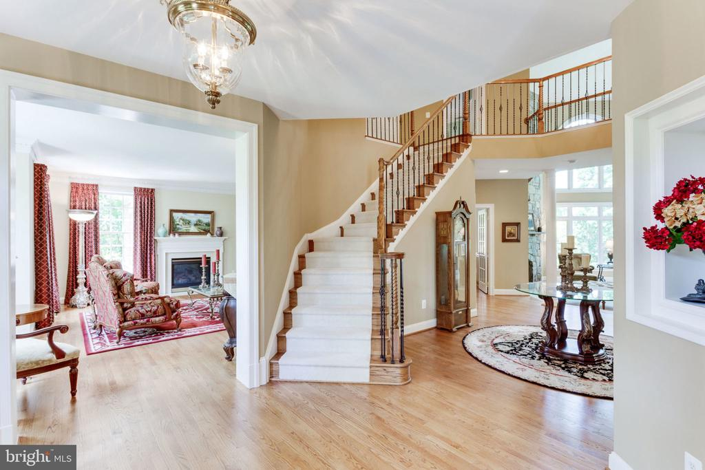 Entry from Foyer into Living Room - 3530 SAINT AUGUSTINE LN, OAKTON