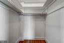 Large Walk-in Closet in Bedroom - 3900 CONNECTICUT AVE NW #506-G, WASHINGTON