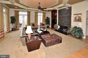 FAMILY ROOM WITH GAS FIREPLACE & SLATE SURROUND - 4653 AUTUMN GLORY WAY, CHANTILLY