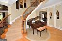 CIRCULAR STAIRCASE TO SECOND LEVEL - 4653 AUTUMN GLORY WAY, CHANTILLY