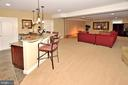 LOWER LEVEL GREAT ROOM WITH WET BAR - 4653 AUTUMN GLORY WAY, CHANTILLY