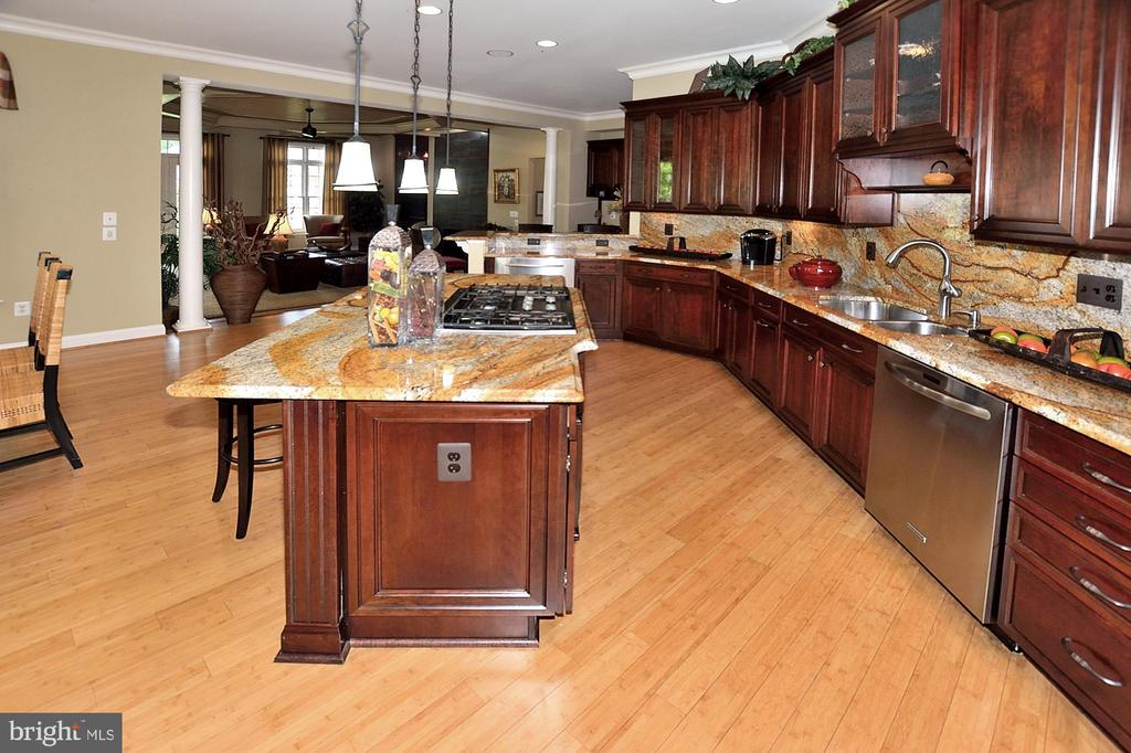 SPACIOUS KITCHEN WITH GRANITE COUNTERS - 4653 AUTUMN GLORY WAY, CHANTILLY