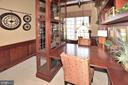 LIBRARY/OFFICE WITH EXTENSIVE BUILT-INS - 4653 AUTUMN GLORY WAY, CHANTILLY
