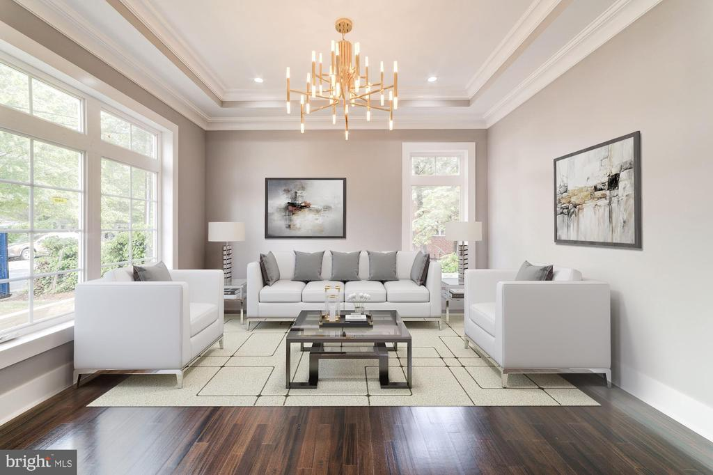 Formal Living Room (Virtually Staged) - 4030 18TH ST S, ARLINGTON