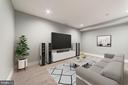 Home Theater (Virtually Staged) - 4030 18TH ST S, ARLINGTON