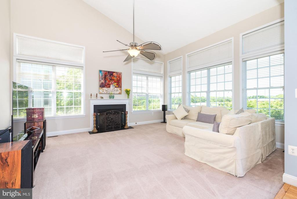 Vaulted ceiling, gas fireplace in Family Room - 1709 FAIRLEIGH CT NE, LEESBURG