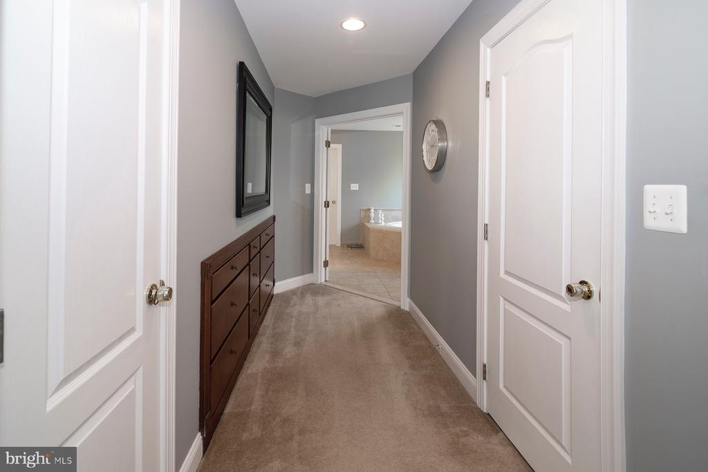 Master suite hallway to the bathroom - 17512 FLINT FARM DR, ROUND HILL