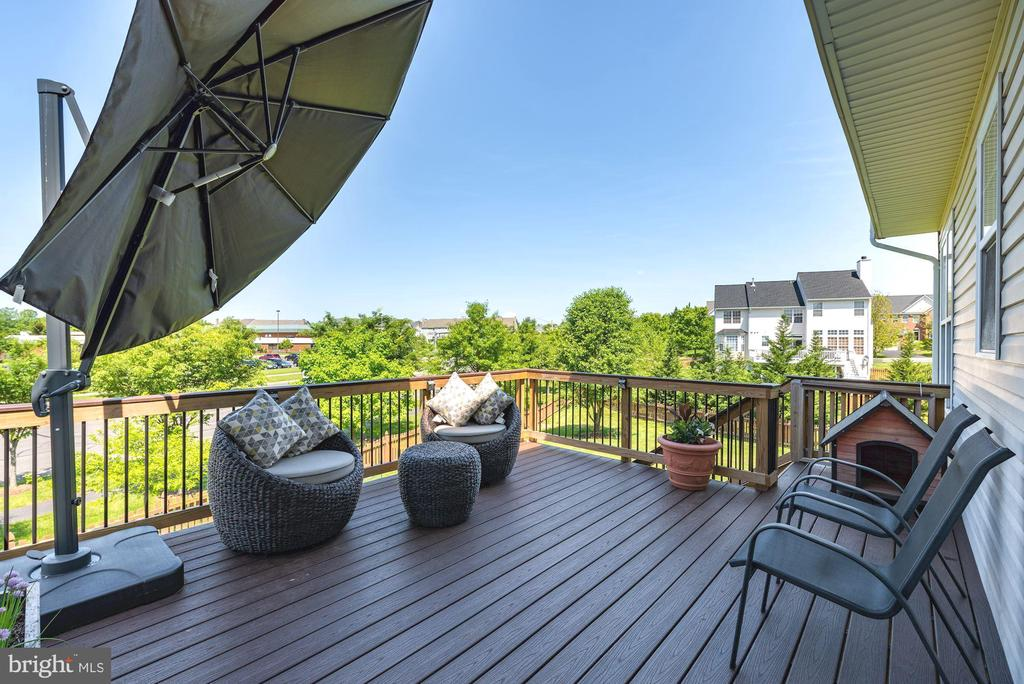 Gorgeous Trex deck with gated stairs down - 1709 FAIRLEIGH CT NE, LEESBURG
