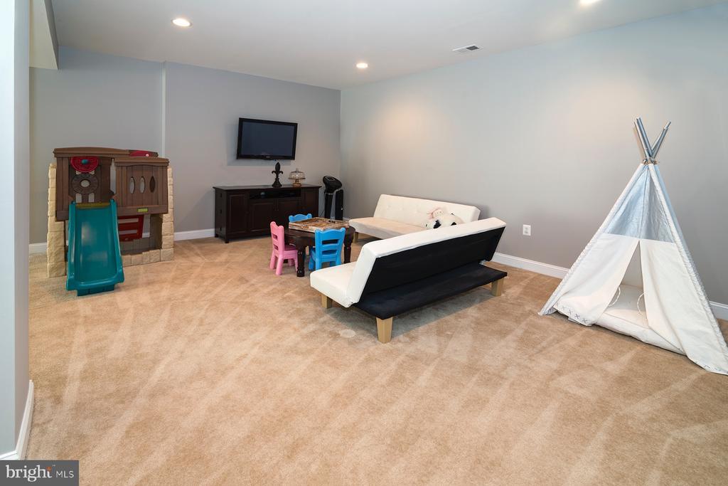 Large open finished basement - 17512 FLINT FARM DR, ROUND HILL