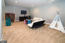 Large open finished basement - 17512 FLINT FARM DR, ROUND HILL
