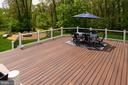 New 750 sq ft Trex deck with outdoor speakers - 17512 FLINT FARM DR, ROUND HILL