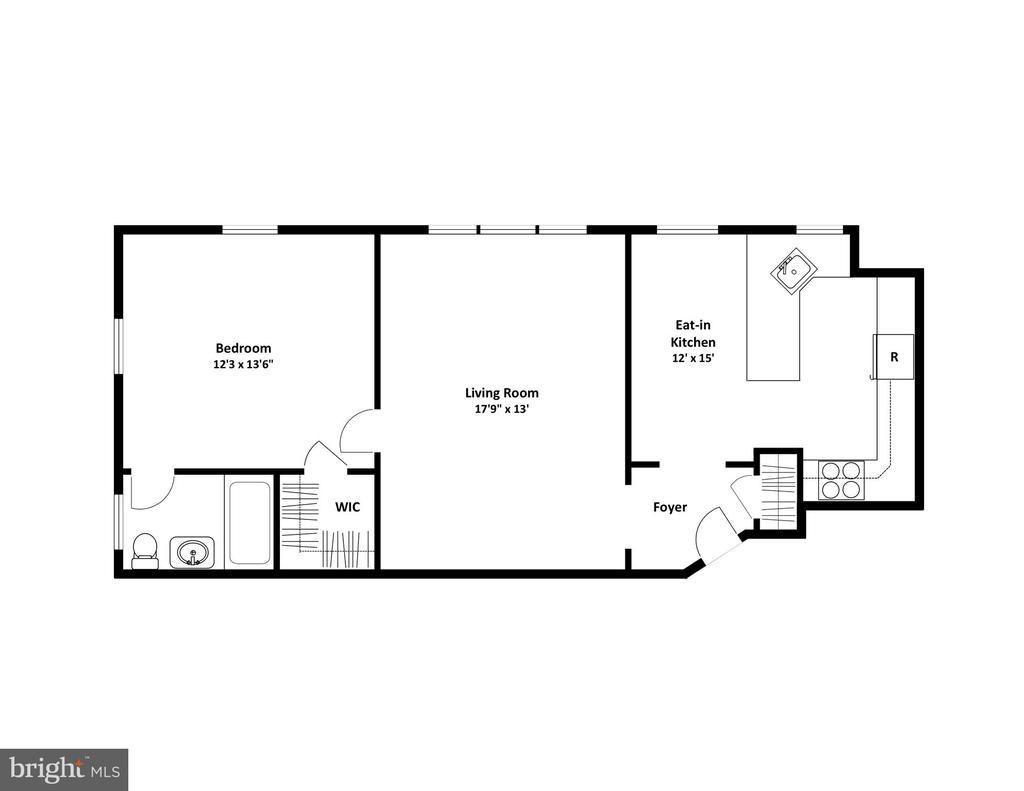 Floor Plan - 3900 CONNECTICUT AVE NW #506-G, WASHINGTON