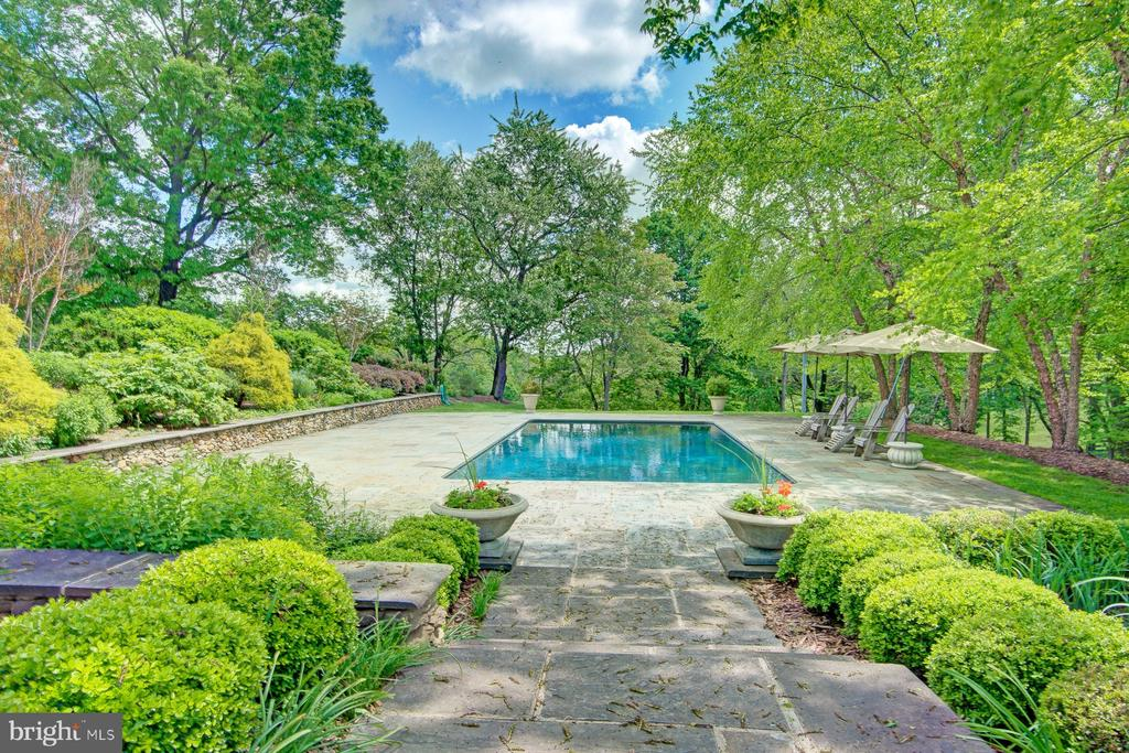 The pool is visible from the screened in porch - 22941 FOXCROFT RD, MIDDLEBURG