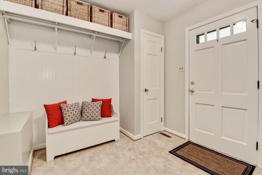 Mudroom with closet and room for storage. - 3905 PICARDY CT, ALEXANDRIA