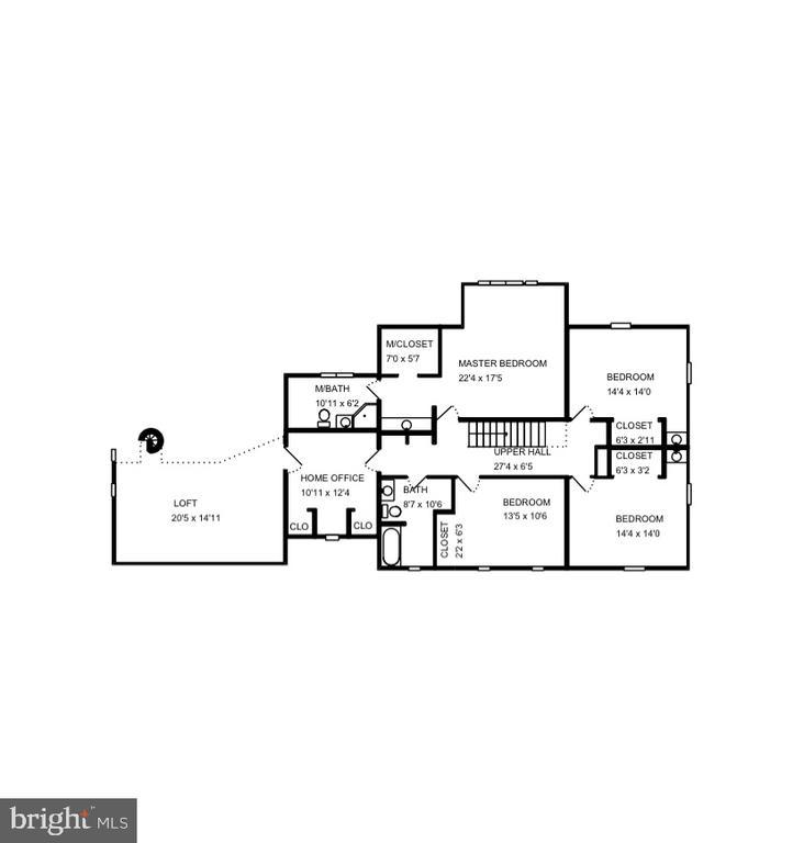 Upper level floor plan. - 3905 PICARDY CT, ALEXANDRIA