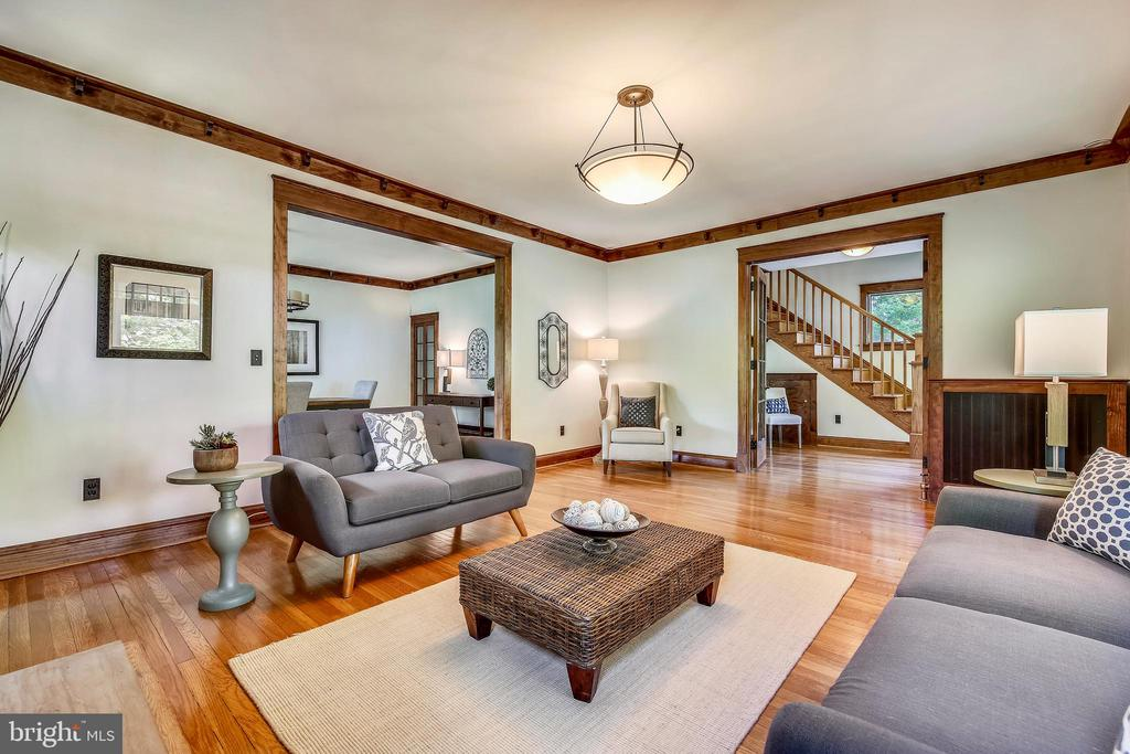 Spacious living room - 9220 COLUMBIA BLVD, SILVER SPRING