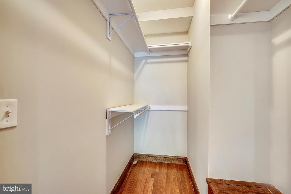Master walk in closet on first floor - 9220 COLUMBIA BLVD, SILVER SPRING