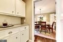 Butler's pantry/bar off kitchen and dining room - 3905 PICARDY CT, ALEXANDRIA