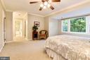 Master bedroom with lots of light and space. - 3905 PICARDY CT, ALEXANDRIA