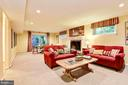 Expansive lower level great room/rec room. - 3905 PICARDY CT, ALEXANDRIA