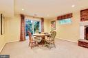 Great room in lower level for card games and fun. - 3905 PICARDY CT, ALEXANDRIA