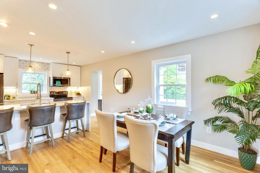 Large Dining room open to breathtaking Kitchen - 5469 DAWES AVE, ALEXANDRIA
