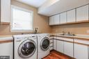 Laundry room - 6418 BROAD ST, BETHESDA