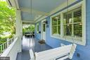 Wonderful, expansive front porch - 6418 BROAD ST, BETHESDA