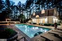Pool and pool house. - 11408 HIGHLAND FARM CT, POTOMAC