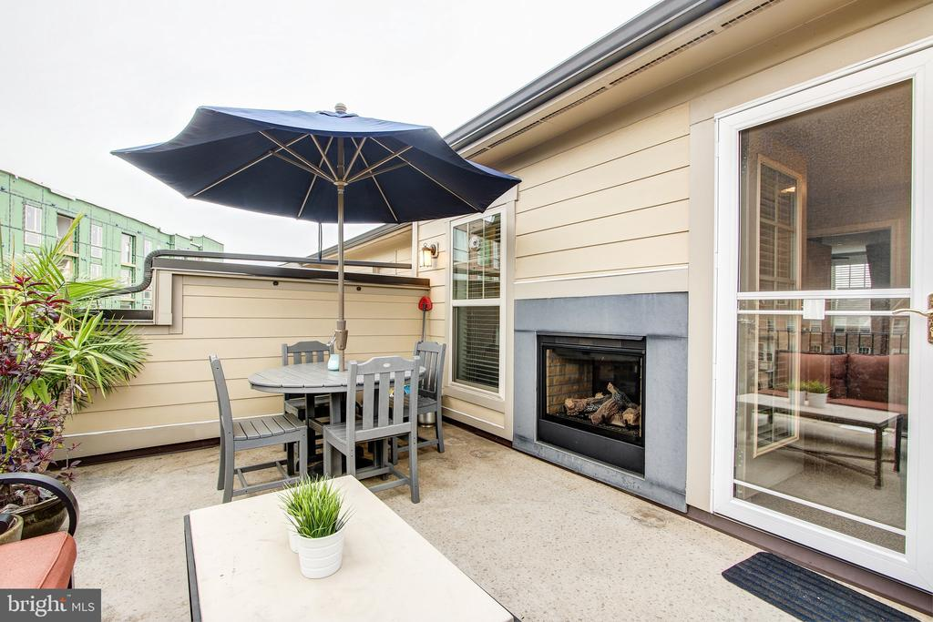 Upper level deck with fireplace - 7902 YELLOWSTONE WAY, ROCKVILLE