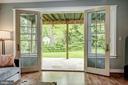Lower Level Double Doors - 5211 CARLTON ST, BETHESDA