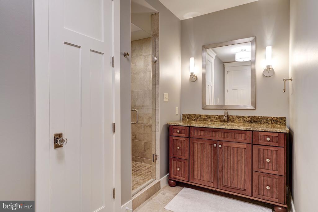 Lower Level Bathroom - 5211 CARLTON ST, BETHESDA