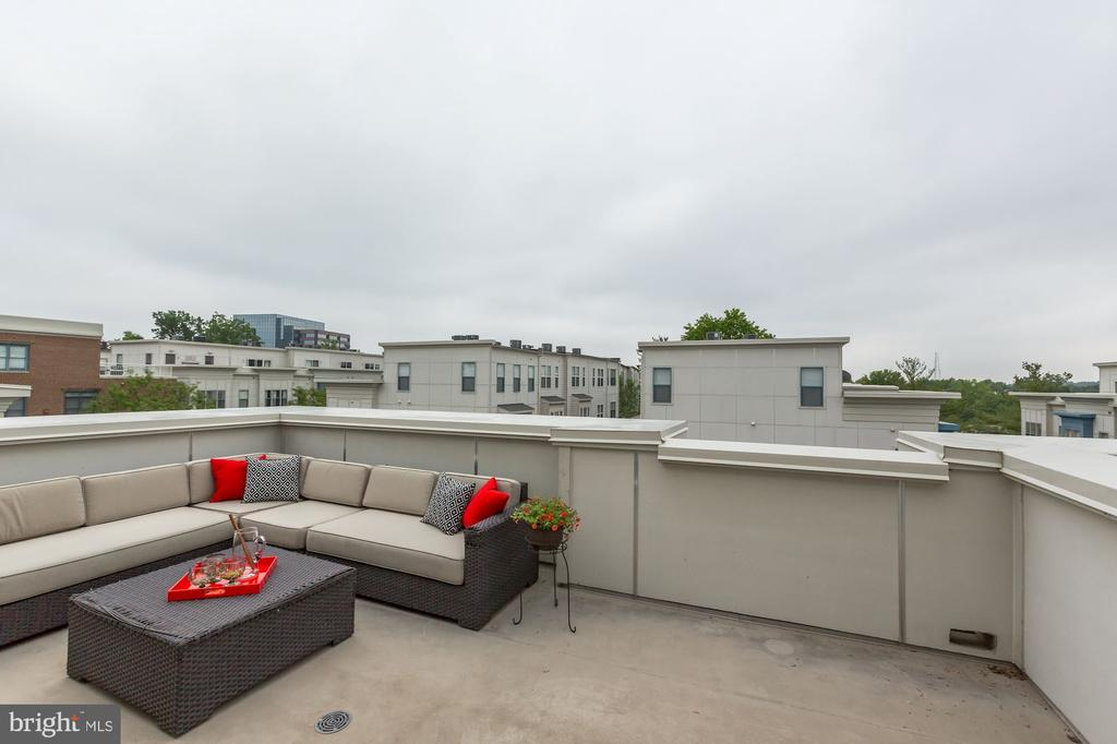 large rooftop terrace - 12160 WAVELAND ST, FAIRFAX