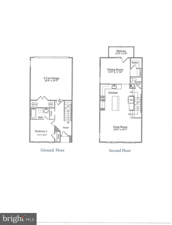 Builder's Floor plan - 7902 YELLOWSTONE WAY, ROCKVILLE