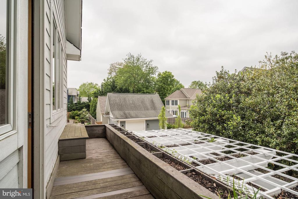 Balcony off Bedroom #2 - 4409 WALSH ST, CHEVY CHASE