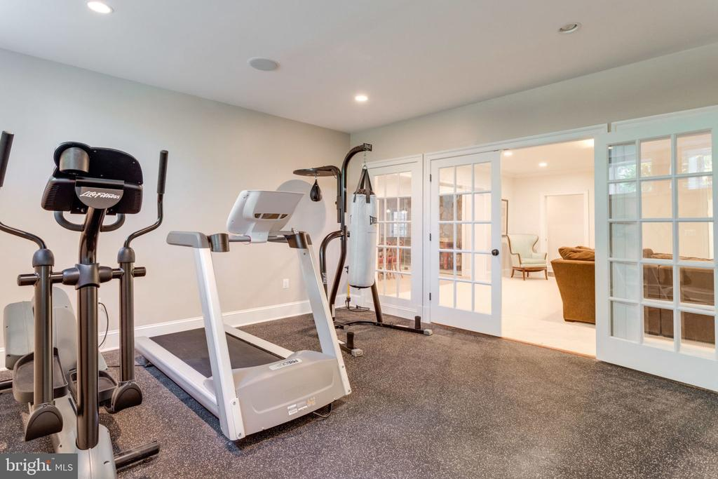 Large Gym with TV - 8704 STANDISH RD, ALEXANDRIA