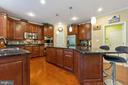 Upgraded kitchen with under cabinet lighting - 16060 IMPERIAL EAGLE CT, WOODBRIDGE