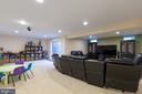 Finished Walk  Up basement with tons of lighting - 16060 IMPERIAL EAGLE CT, WOODBRIDGE