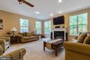 Extended family room - 16060 IMPERIAL EAGLE CT, WOODBRIDGE