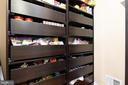 Walk in pantry includes custom built in shelving - 16060 IMPERIAL EAGLE CT, WOODBRIDGE