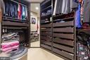 Custom Closet organizers in Master Walk In Closet - 16060 IMPERIAL EAGLE CT, WOODBRIDGE