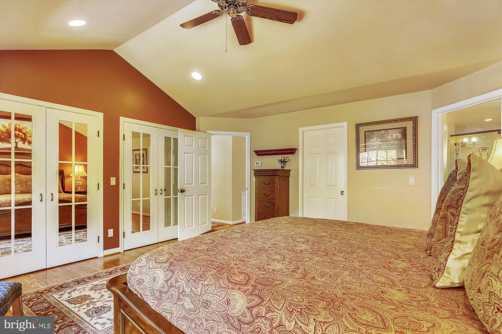 Soaring ceilings and wall of closets in Master BR - 2715 LORCOM LN, ARLINGTON
