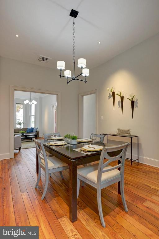Central dining room makes entertaining efficient - 627 A ST SE, WASHINGTON
