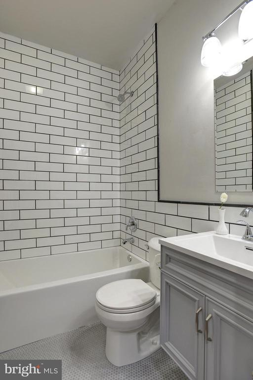 Classically modern fully-renovated bath - 627 A ST SE, WASHINGTON