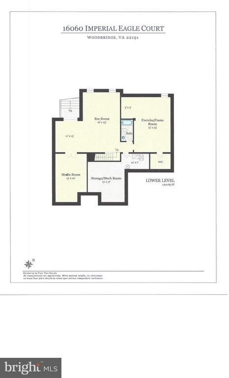 Basement Floor Plan - 16060 IMPERIAL EAGLE CT, WOODBRIDGE